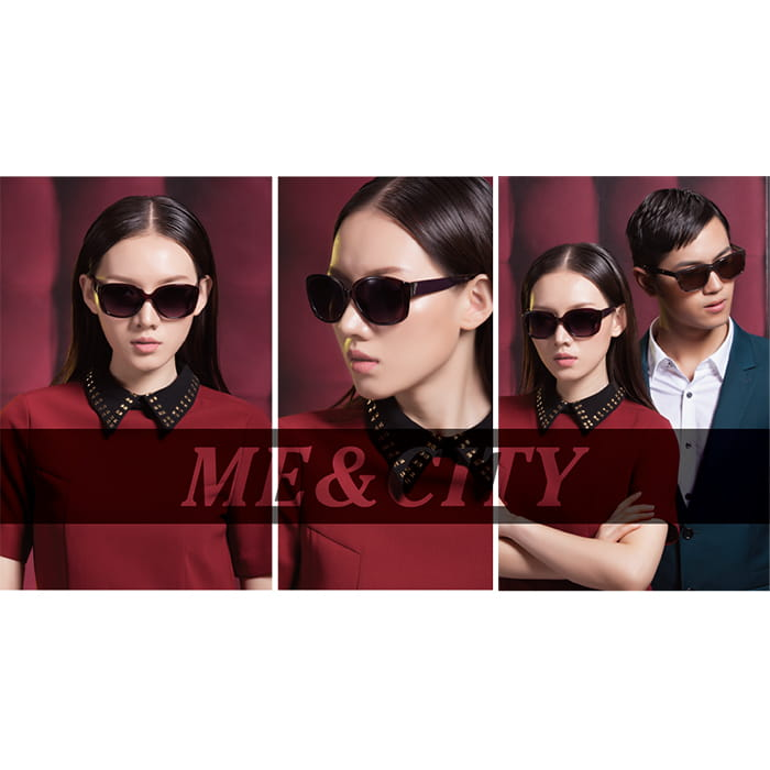 【ME&CITY】 甜美心型鎖鍊太陽眼鏡 抗UV (ME 1223 H02) 2