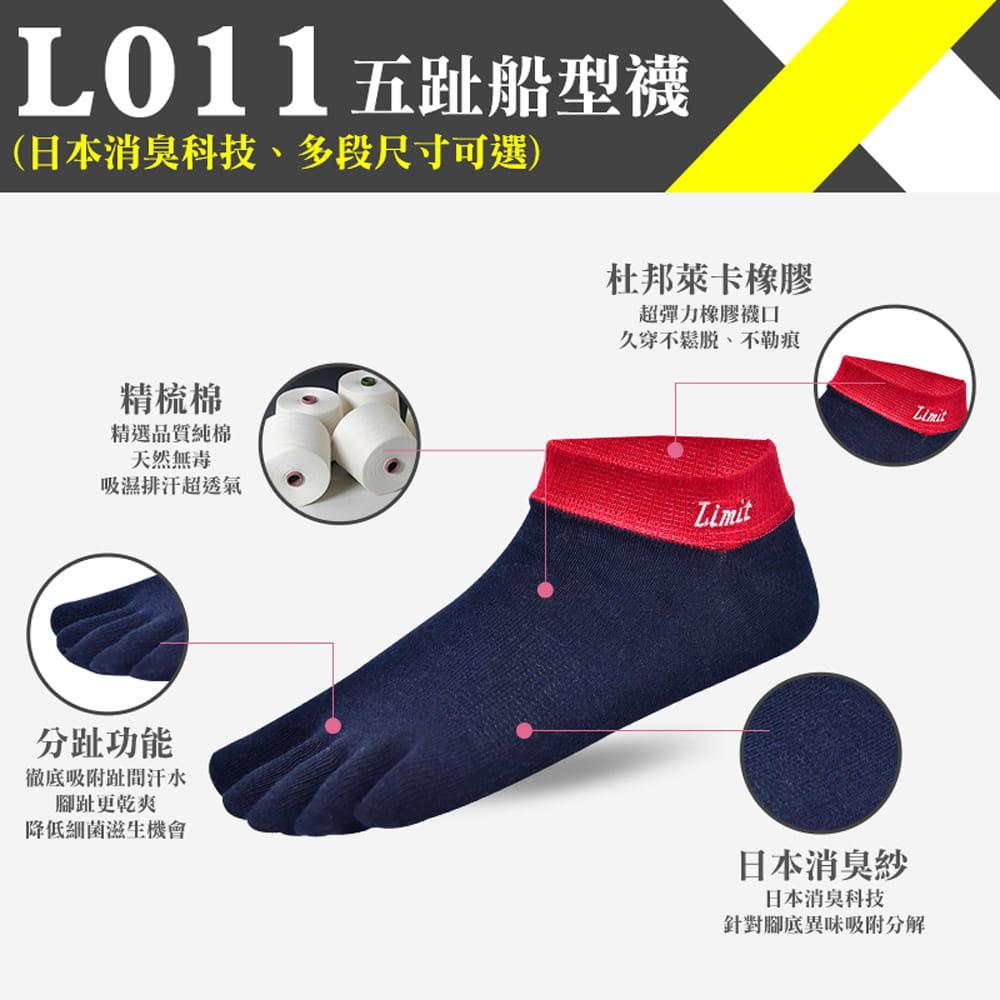 【力美特機能襪】五趾船型襪(丈青紅) 0