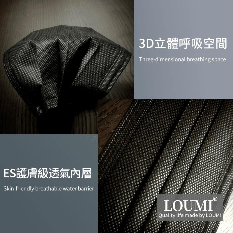 【LOUMI】魅力香氛口罩 櫻花粉/時尚黑【10片/盒】 8