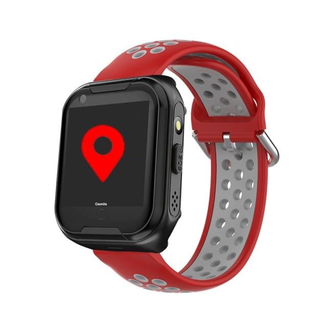 Osmile ED1000 GPS定位 安全管理智能手錶-灰紅