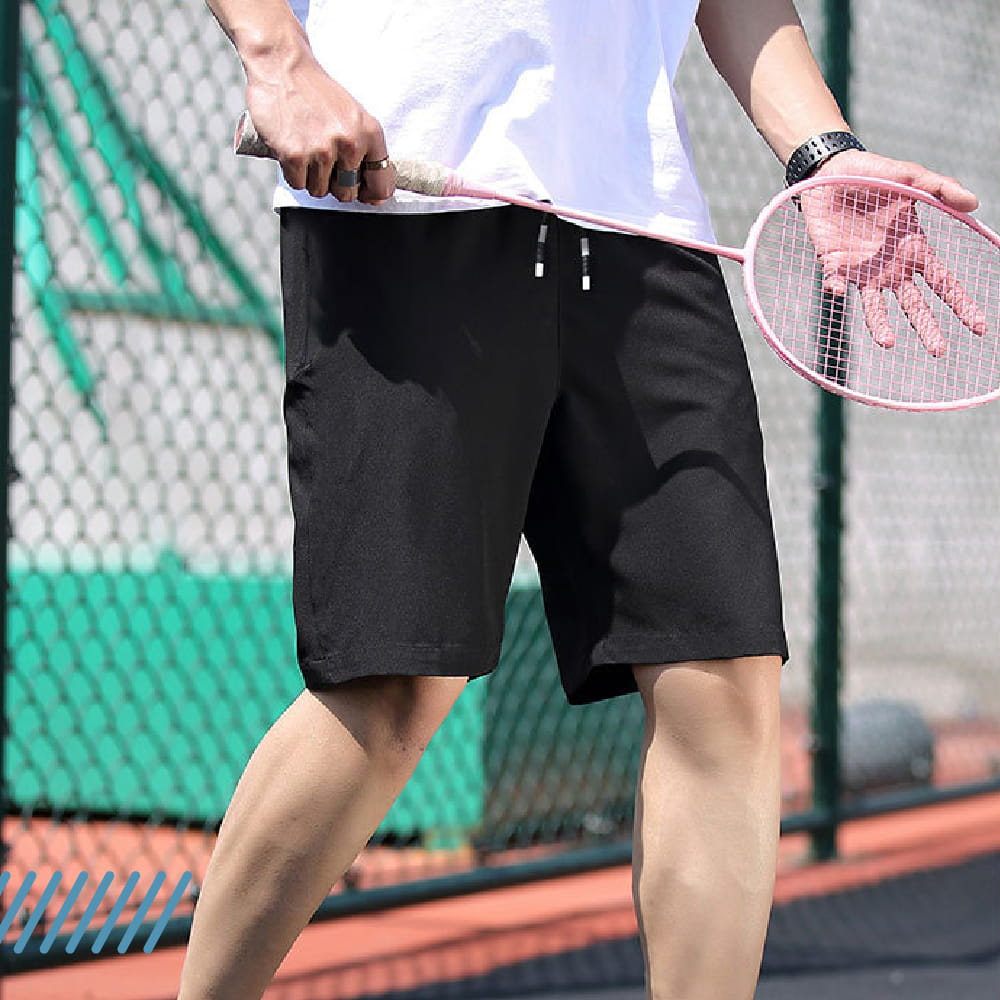 【NEW FORCE】高機能彈力抽繩運動男短褲-2色可選 8