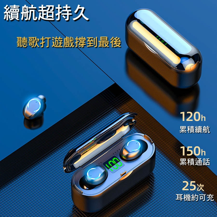 IPX7防水運動藍芽耳機 1
