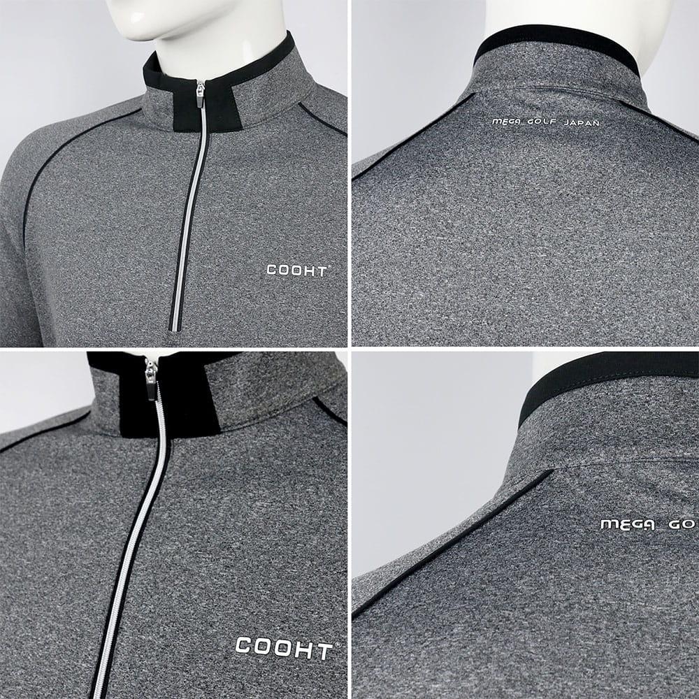 【MEGA COOHT】 男輕刷毛立翻領修身顯瘦經典款運動保暖衫 日本運動熱銷莫蘭迪色 1