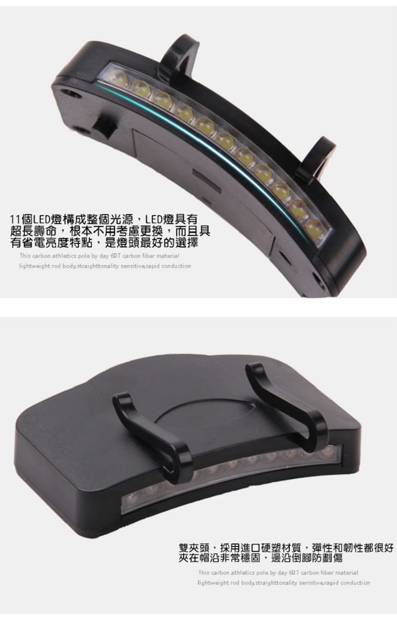 11顆LED帽沿燈 4
