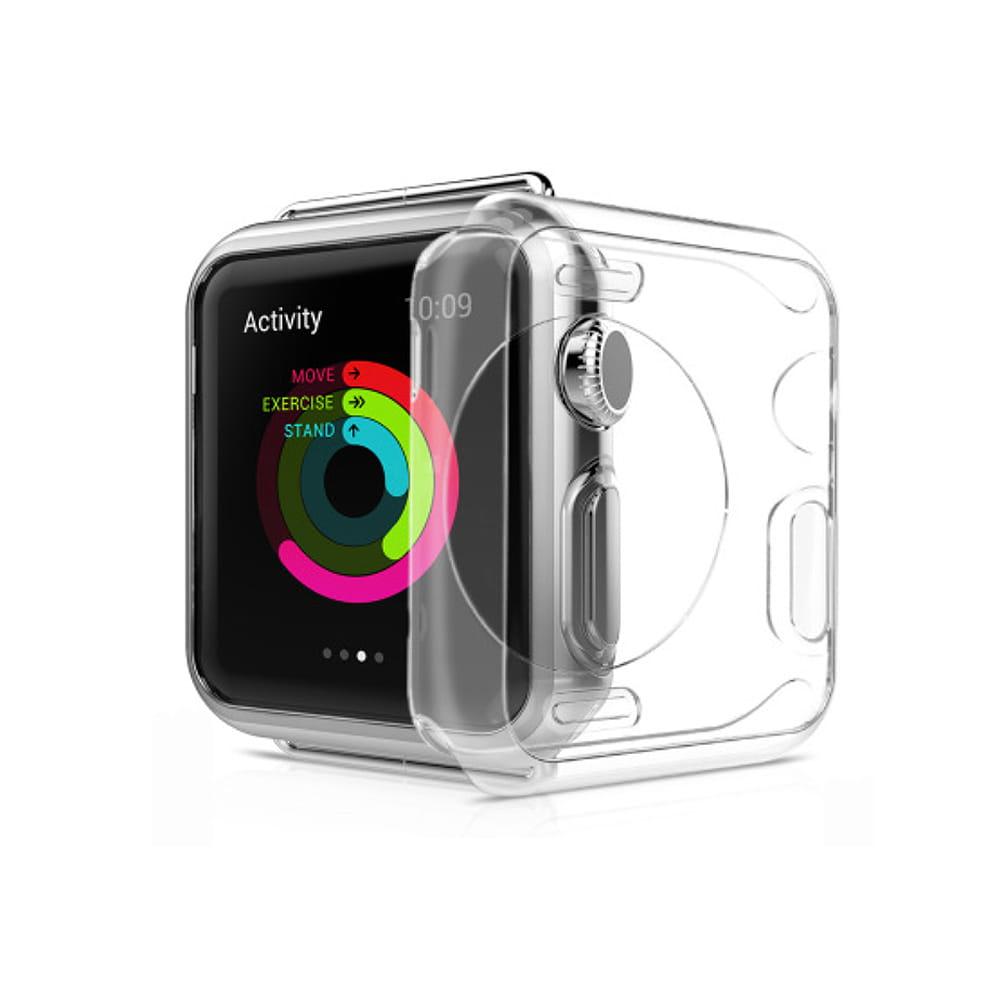 AdpE Apple Watch 3/4/5/6/SE 專用 透明邊框保護殼套 0