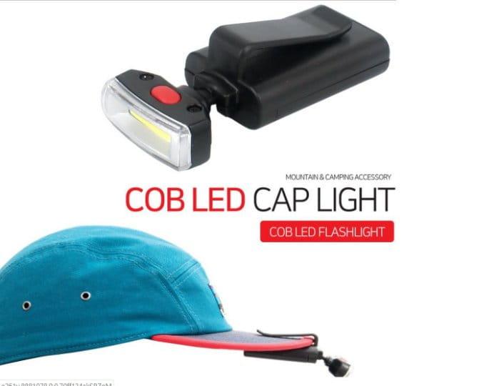 户外登山照明頭燈 LED夾帽燈 6
