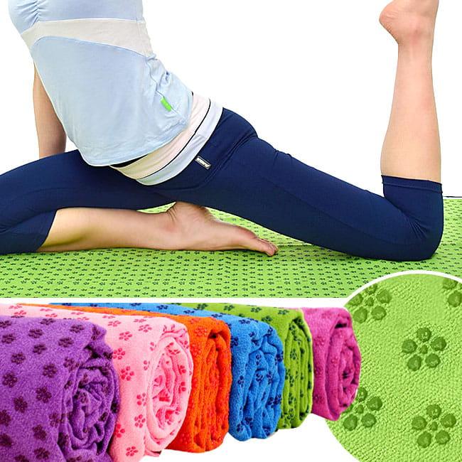 100%超細纖維瑜珈鋪巾(送收納袋) 運動鋪巾瑜珈墊 0