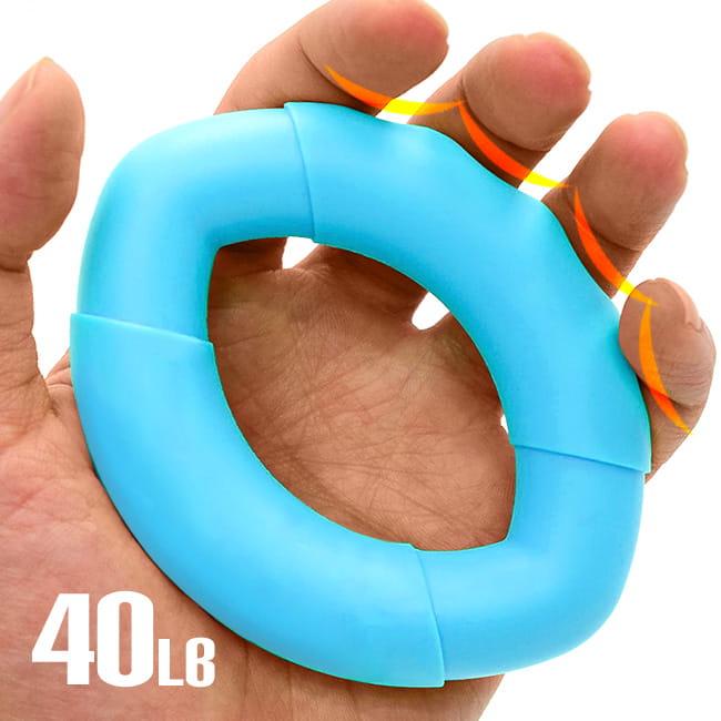 橢圓工學40LB握力圈   矽膠握力器握力環 0
