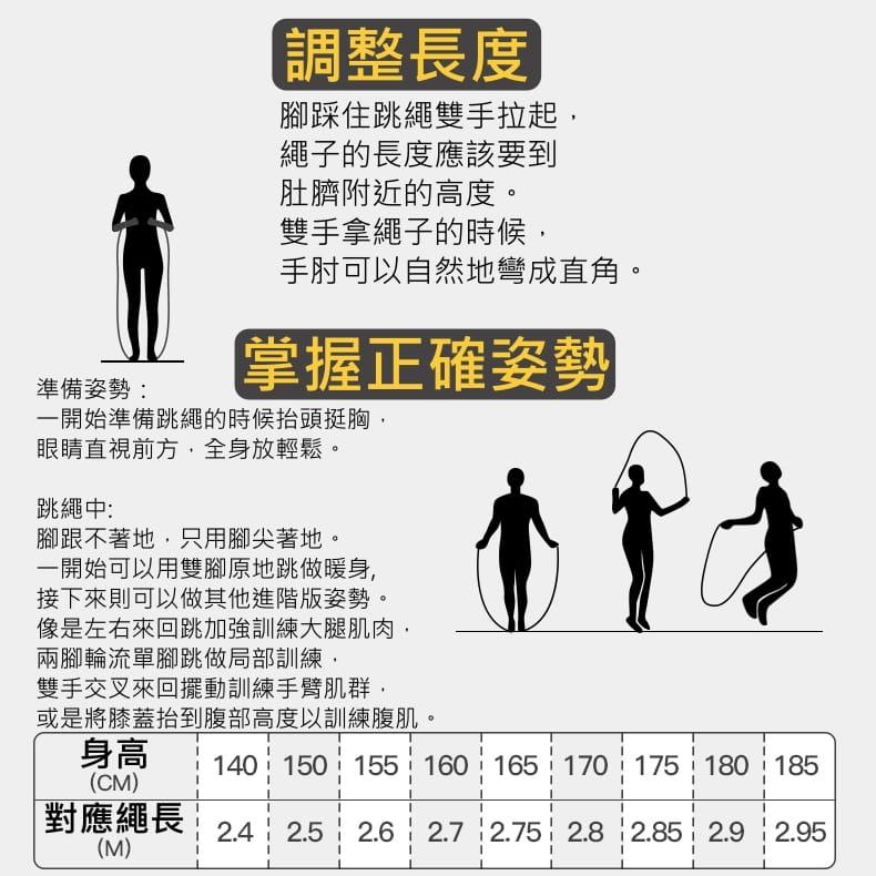 附收納袋 跳繩 競技跳繩 訓練跳繩 鋼絲跳繩 軸承跳繩 比賽跳繩 健身訓練跳繩 減肥 有氧運動 9