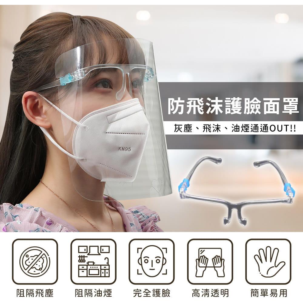 頭戴式防飛沫防護面罩 2