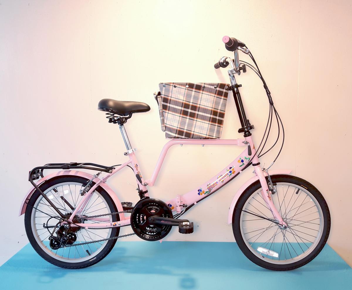 台製 20吋 21速 SHIMANO 摺疊 小籃 寵物腳踏車 2