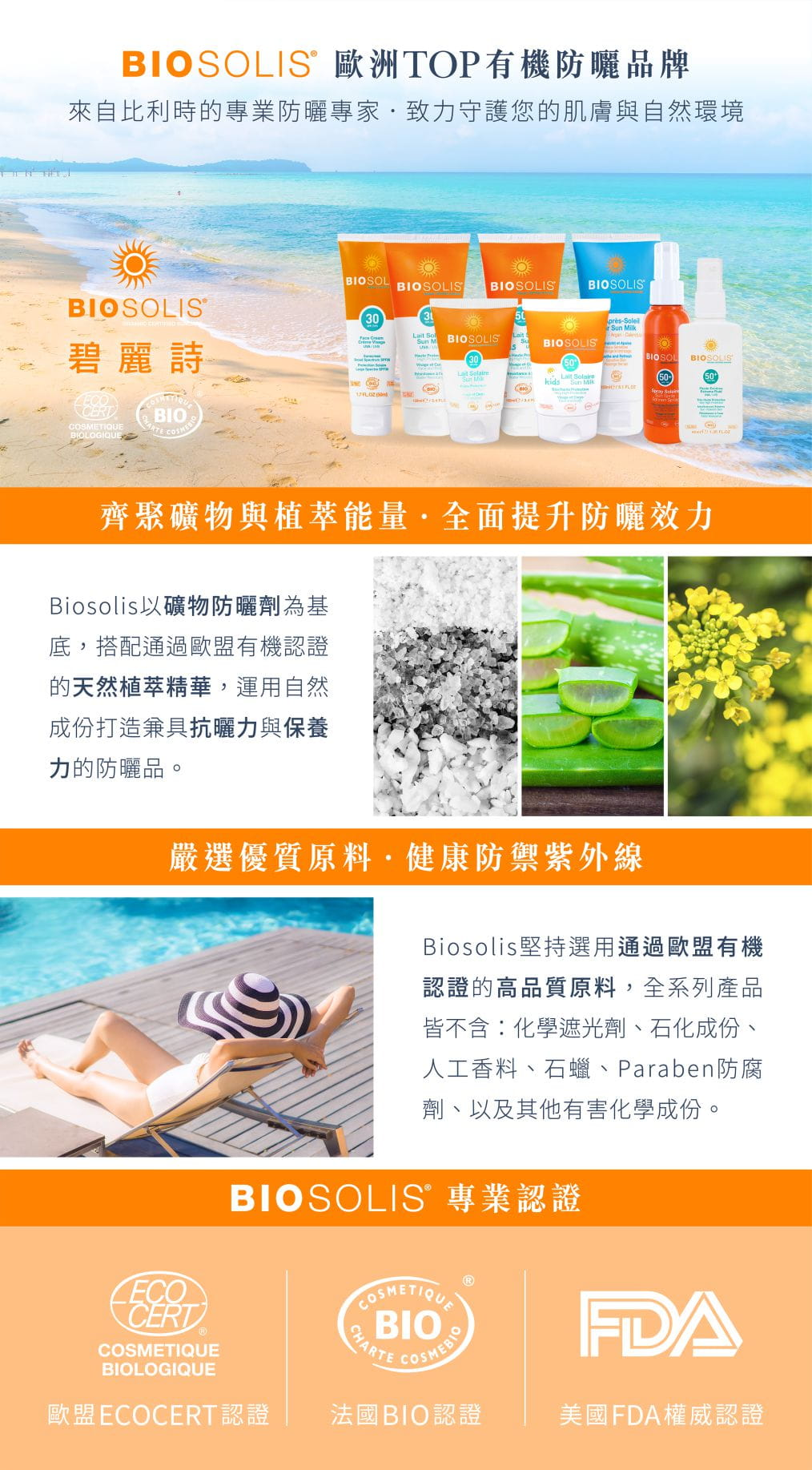【Biosolis】臉部高效防曬隔離乳 SPF50+ 50ml 3