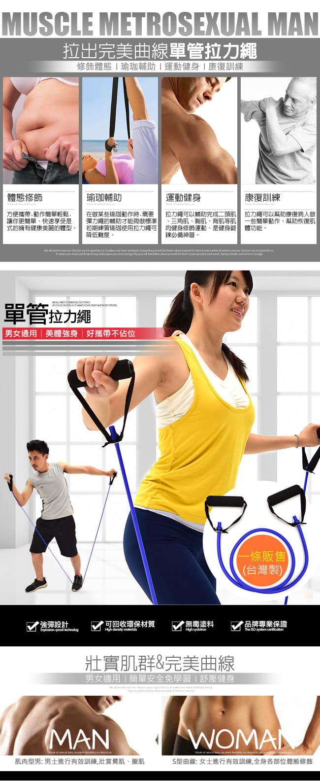 台灣製造!!單管拉力繩(單入)   彈力繩拉力器 1
