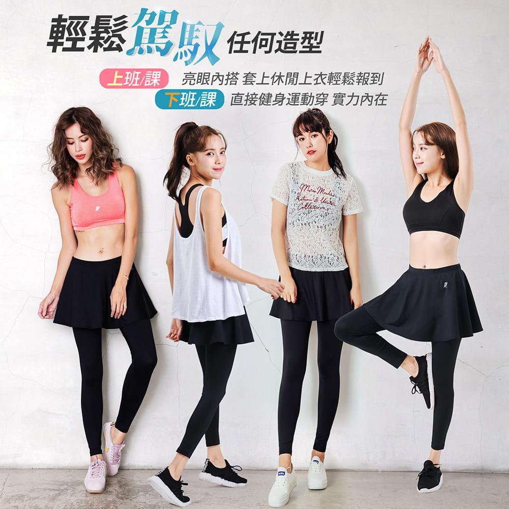 【GIAT】台灣製激能3.0排汗防曬壓力裙褲 10