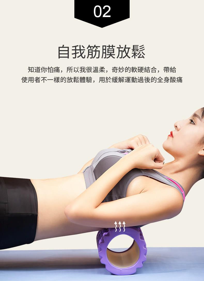 泡沫軸狼牙棒按摩瘦小腿神器肌肉放松瘦腿瑜伽柱滾軸滾輪健身器材 7