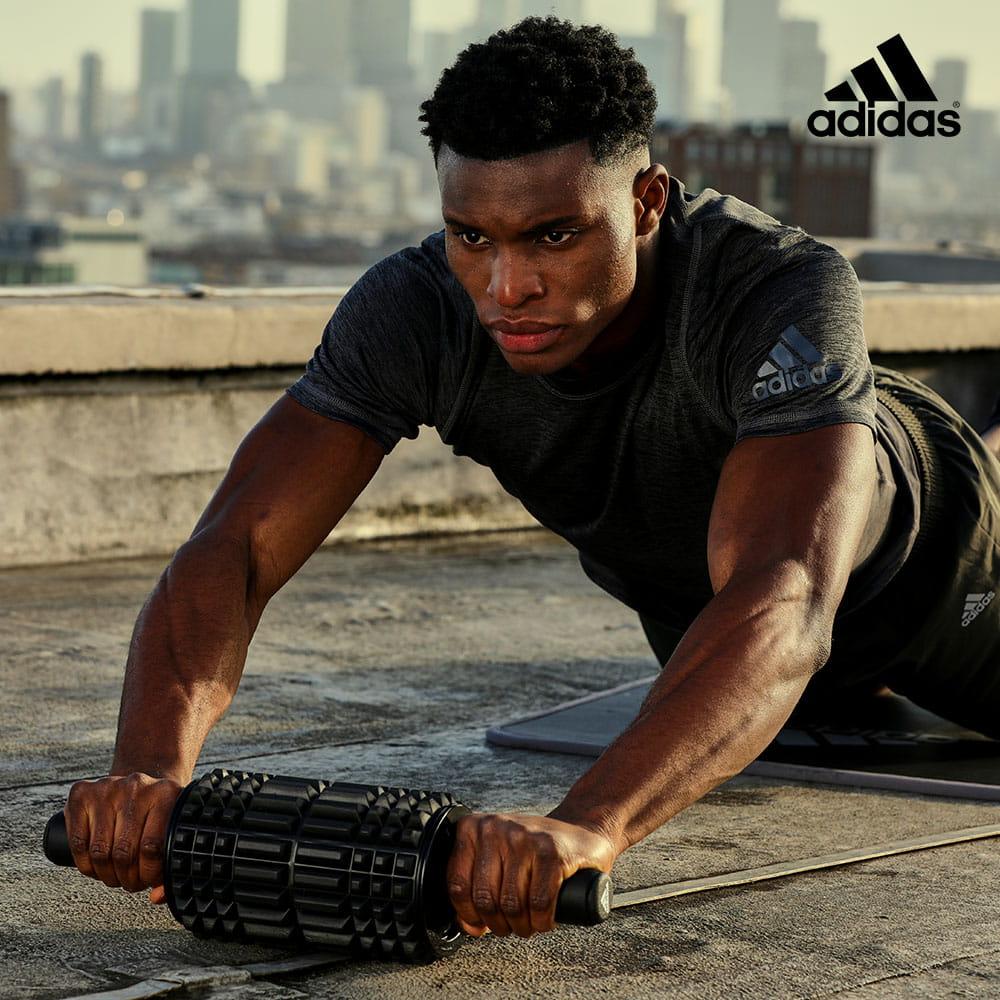 【adidas】複合滾筒健腹輪 0
