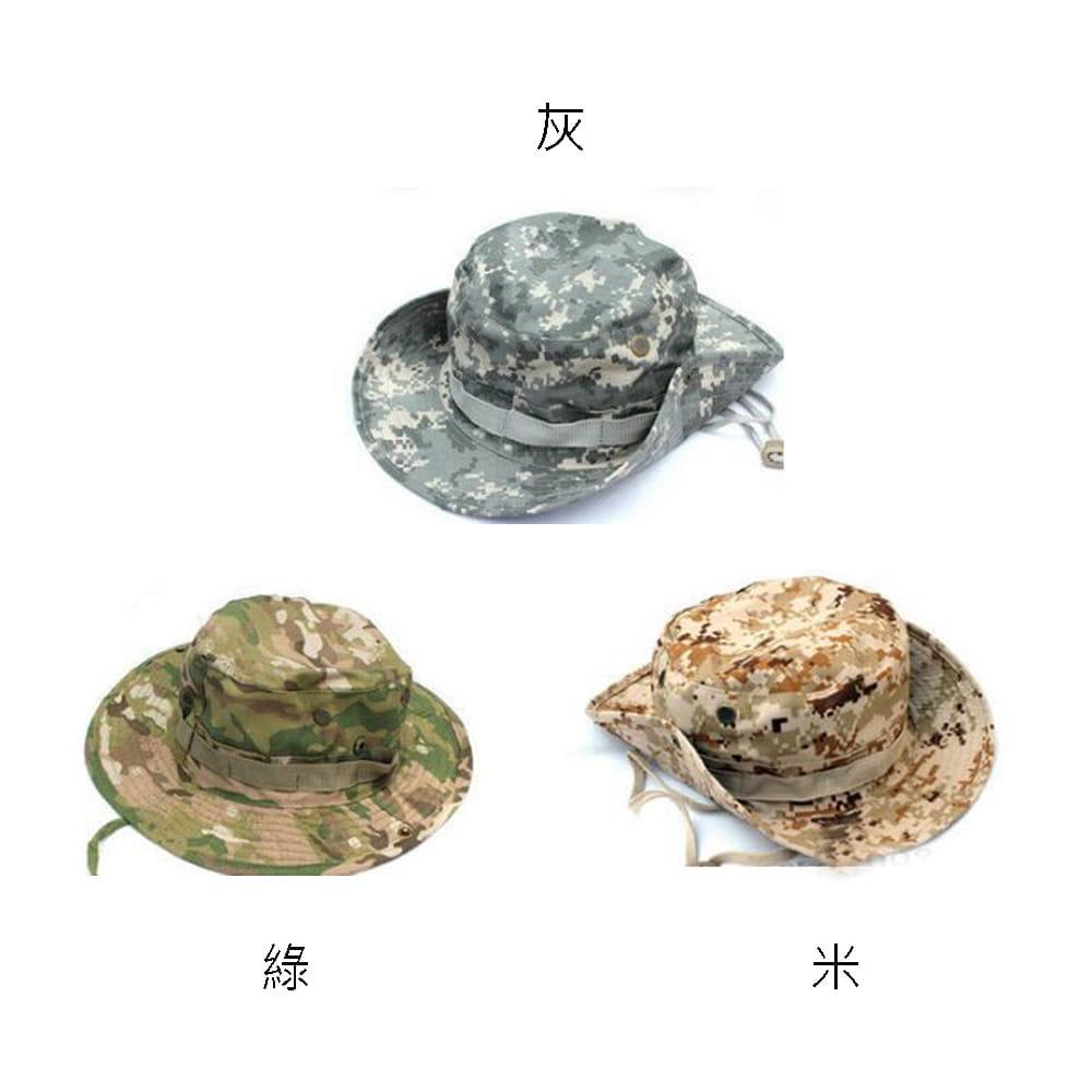 【E.City】可翻釦迷彩風戶外遮陽帽漁夫帽 12