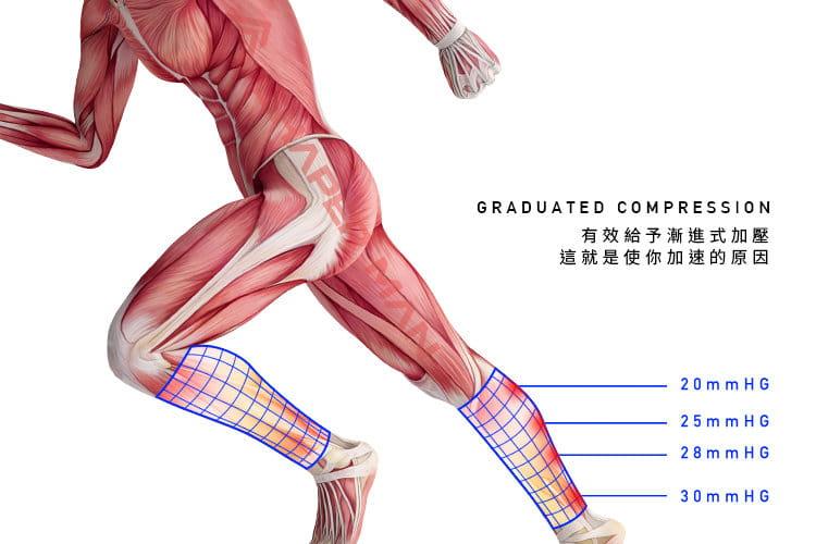 【Shaper Man】耐力機能壓縮小腿套 3