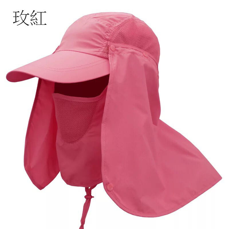 UPF50+抗UV高防曬速乾護頸遮陽帽 14