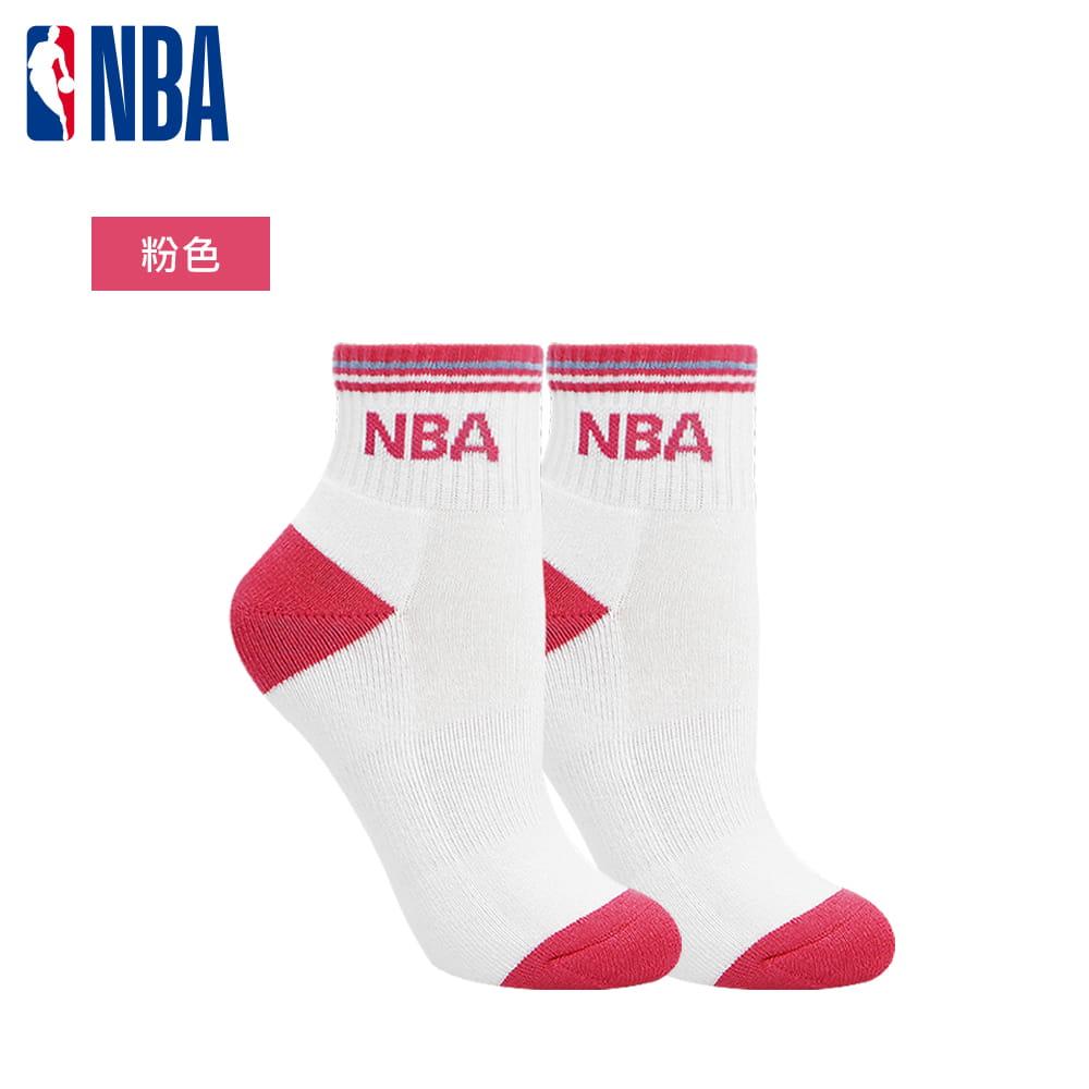 【NBA】運動休閒緹花毛圈短襪 6