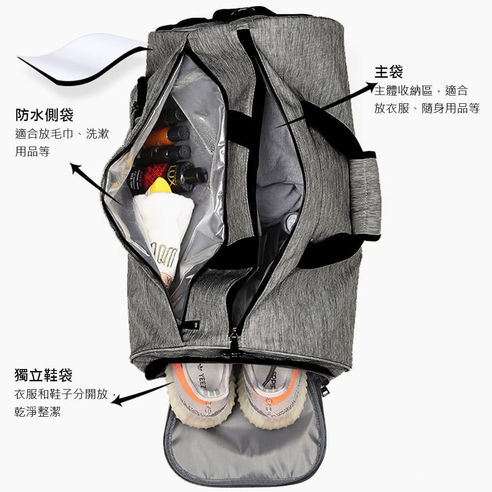 【E.City】大容量圓筒乾溼分離運動健身包 1