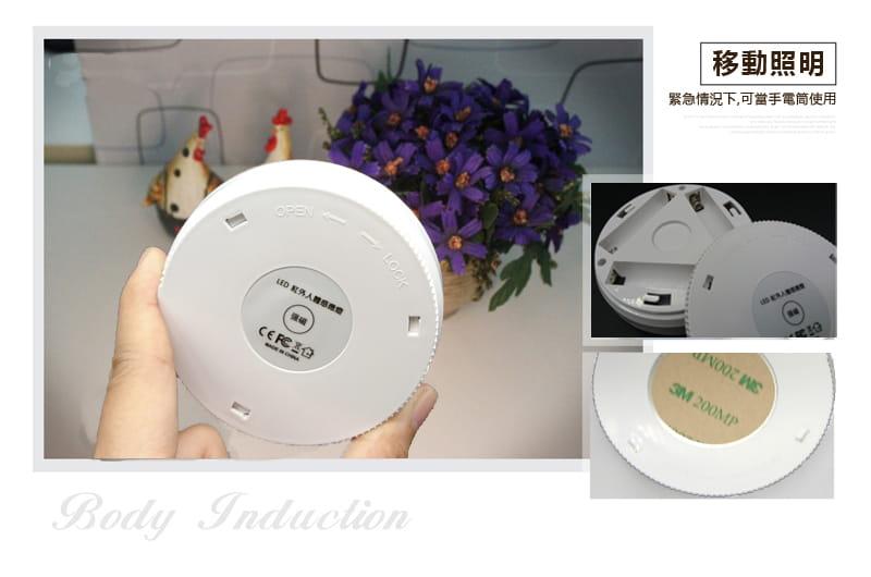 360度磁吸LED紅外線人體感應燈(暖白光) 3