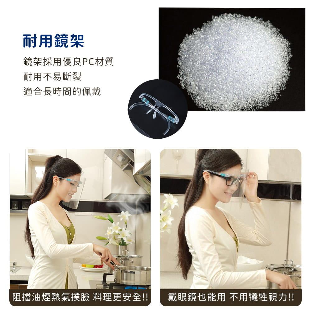 頭戴式防飛沫防護面罩 4