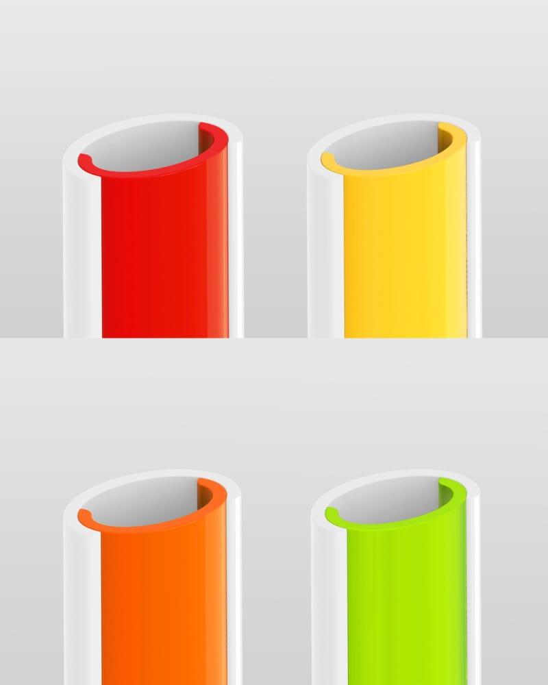 德國SLIDERSTRAW可拆式環保吸管 4色組21.5cm 6