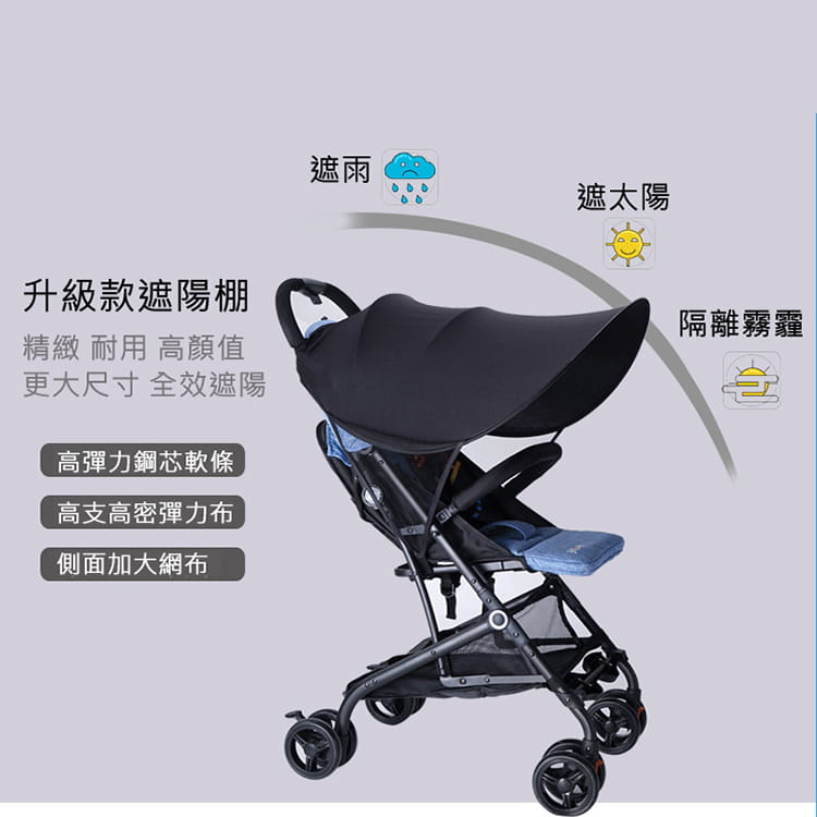 【JAR嚴選】高質感嬰兒推車防曬車棚 2