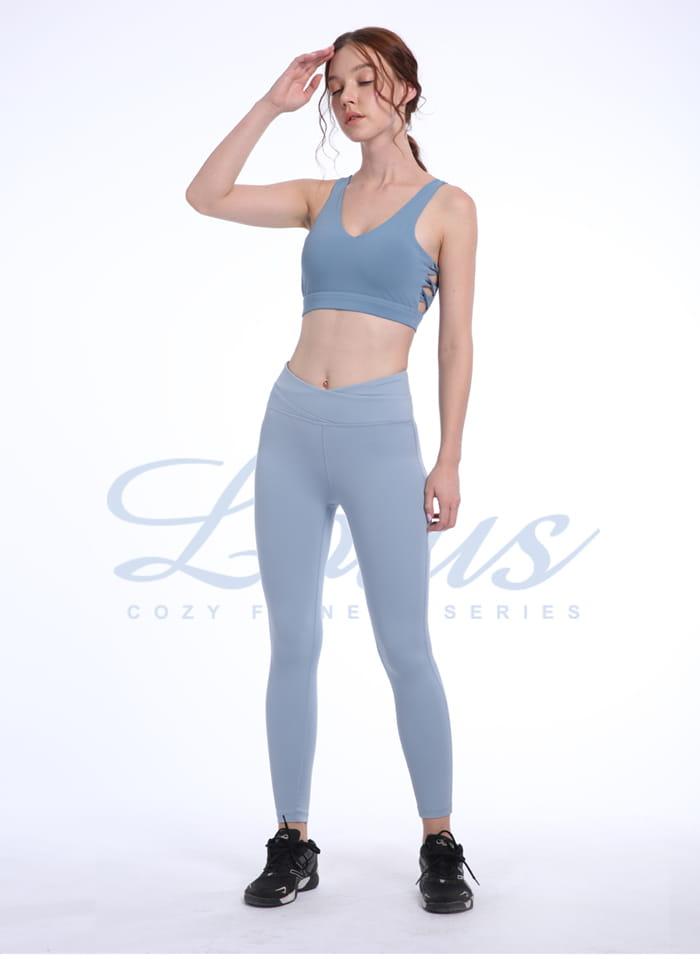 修飾腰線交叉收腹瑜珈運動褲-4色 1