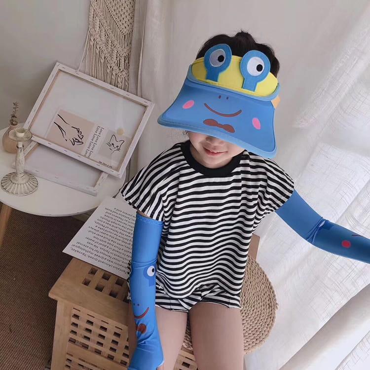 【JAR嚴選】兒童涼感防曬遮陽帽 (送袖套) 19