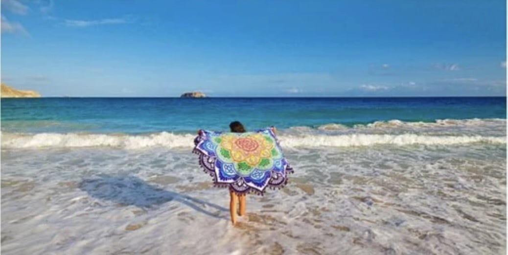 野餐墊 地墊 沙灘墊 海灘墊 露營烤肉方便攜帶 質輕好清理lets sea 3