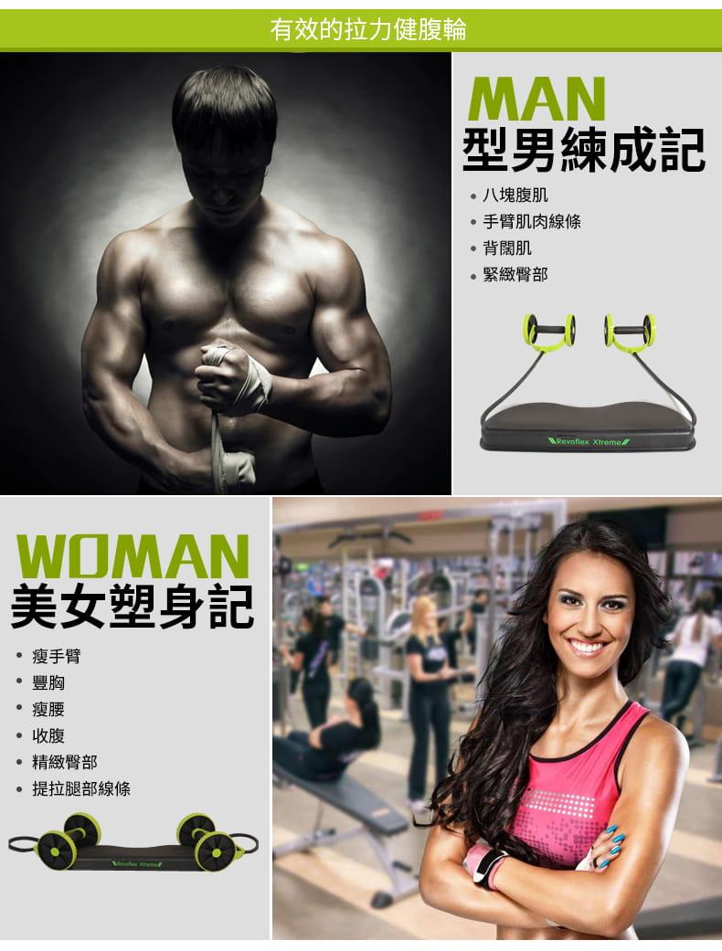 多功能健腹輪 家用腹肌健身滾輪靜音拉力繩減肥鍛煉健身器材 3