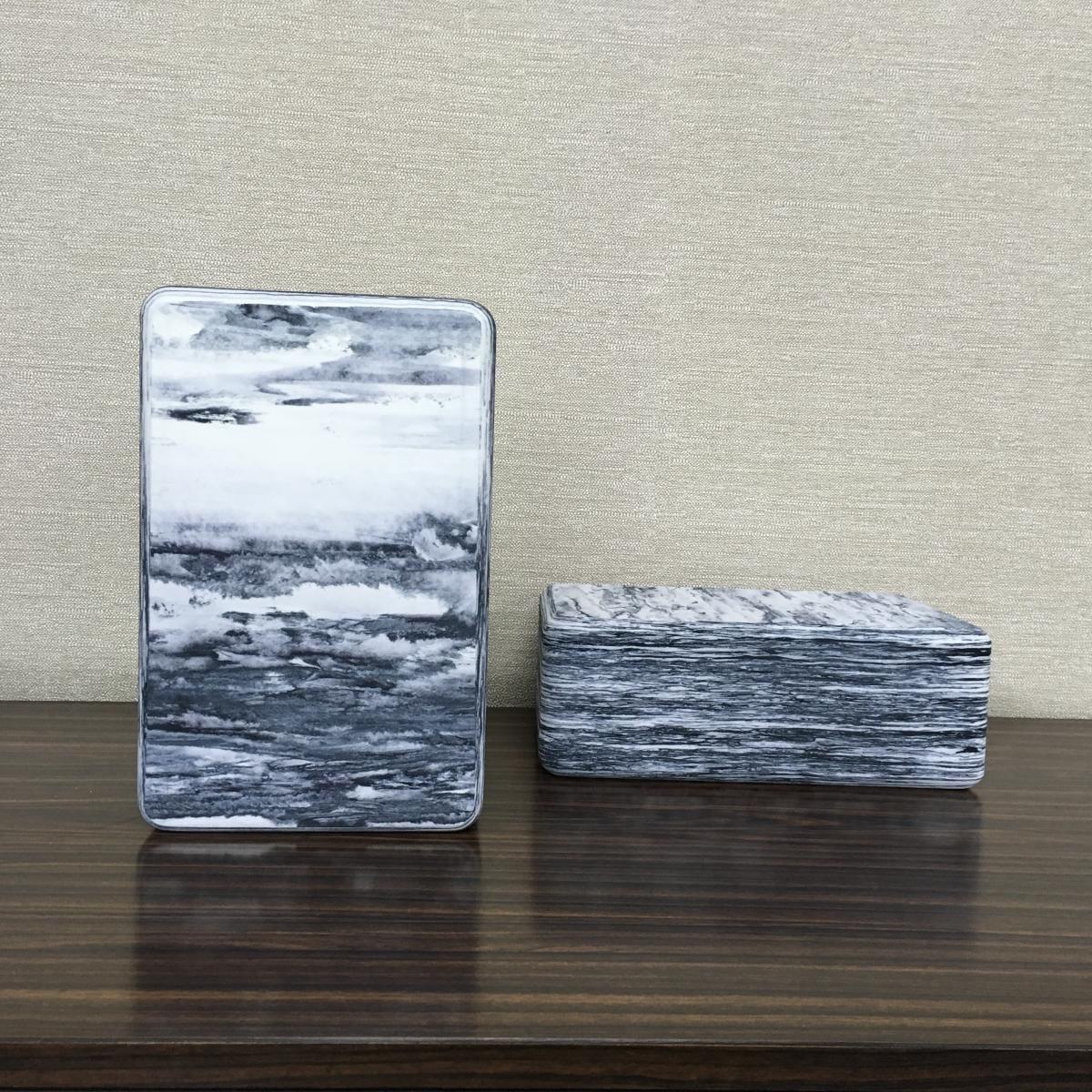 【QMAT】 40D瑜珈磚 混色系-青銅石紋、黑白雲彩 2
