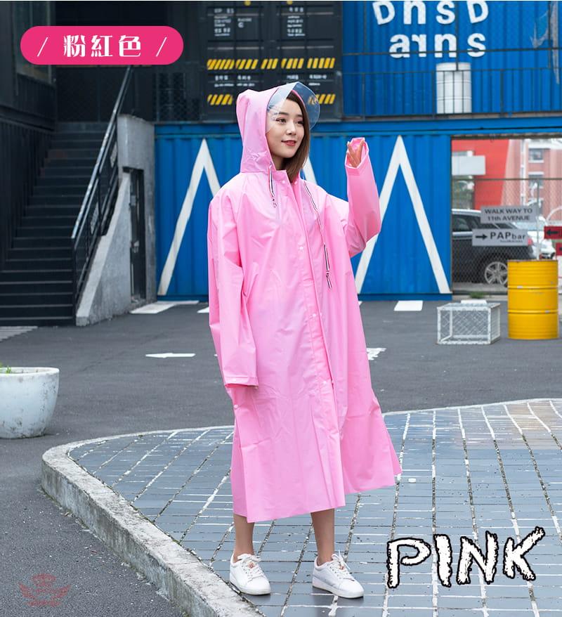 多功能時尚雨衣-英倫風收縮繩設計 多種穿法 可背背包 18