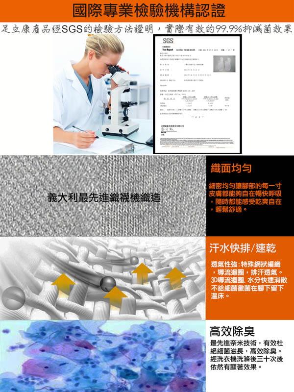 超短氣墊毛巾奈米科技健康除臭襪[F31] 10