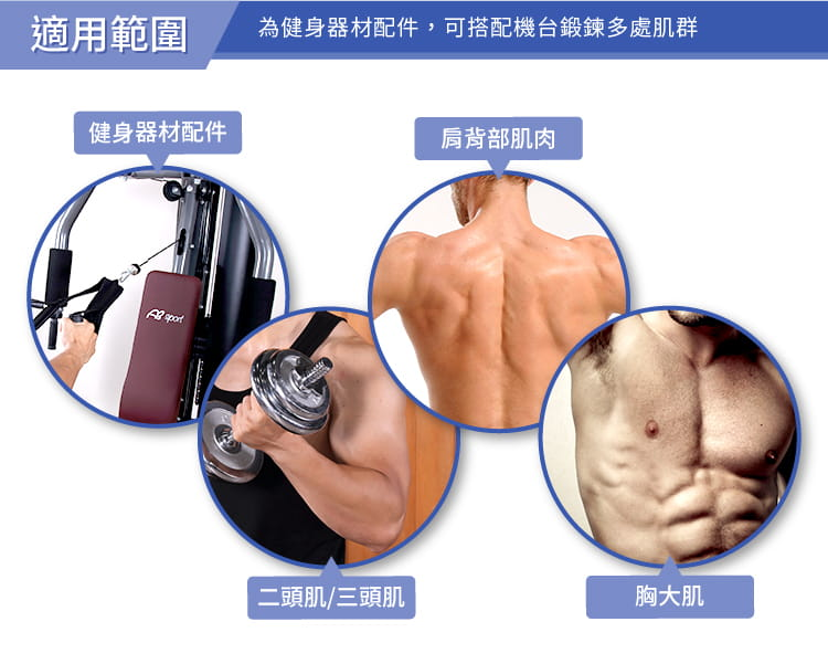 【ABSport】拉力把手/把手/拉手/拉環/拉桿/健身器材配件/重訓配件/吊環 4