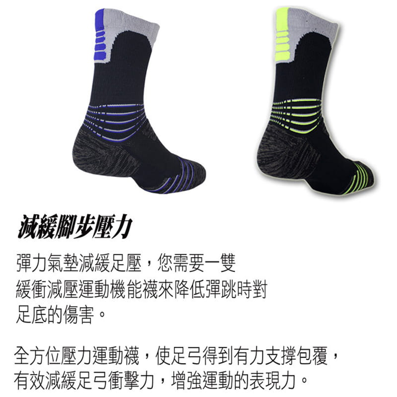 【IFEET】(9824-28)全方位足弓壓力運動網球襪 3