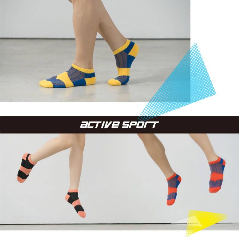 【Peilou】足弓護足氣墊船襪-條紋(男/女款) 4
