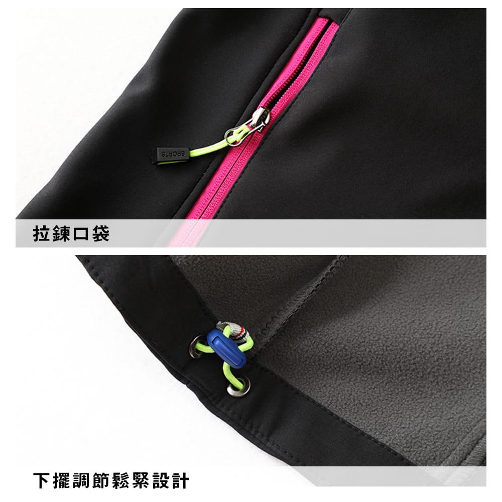 【NEW FORCE】男女款防風聚熱刷毛連帽外套-男女款 6