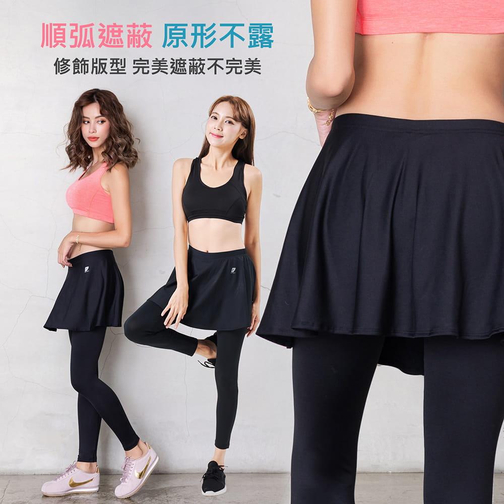 【GIAT】台灣製激能3.0排汗防曬壓力裙褲 5