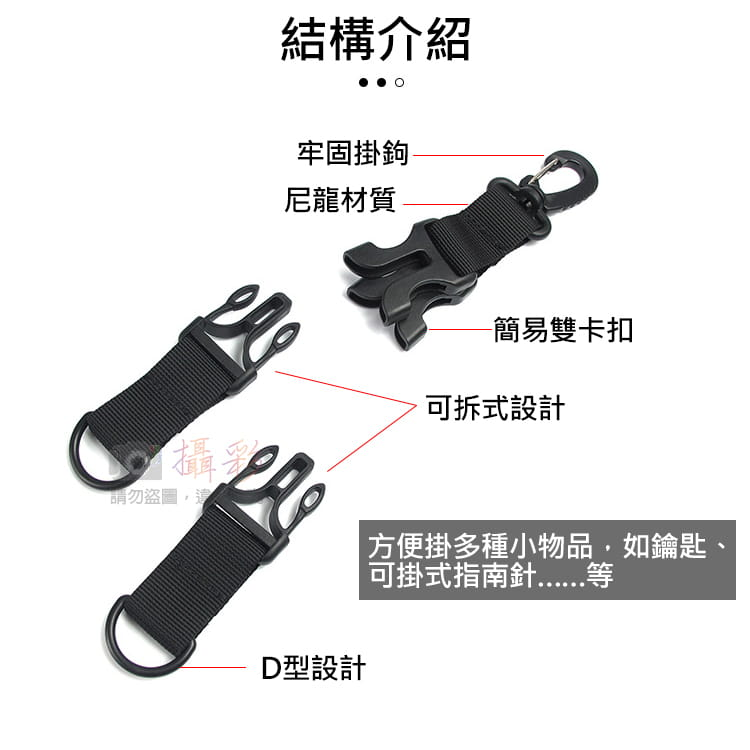可拆卸戰術雙D環扣 4