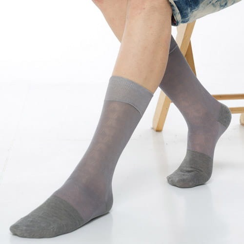 【KEROPPA可諾帕】奈米竹炭絲光棉紳士男襪x2雙C90008 2