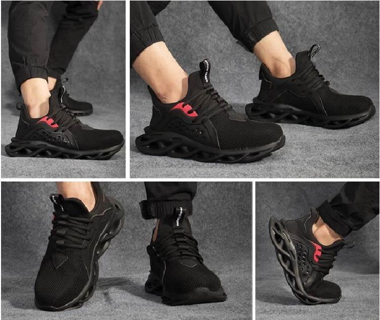 【尼斯生活】黑彈簧機能鋼鐵鞋 9