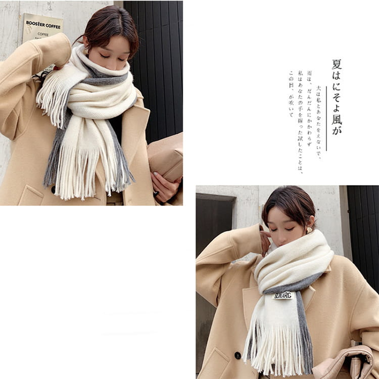 【JAR嚴選】時尚秋冬必備韓版情侶款保暖圍巾 8