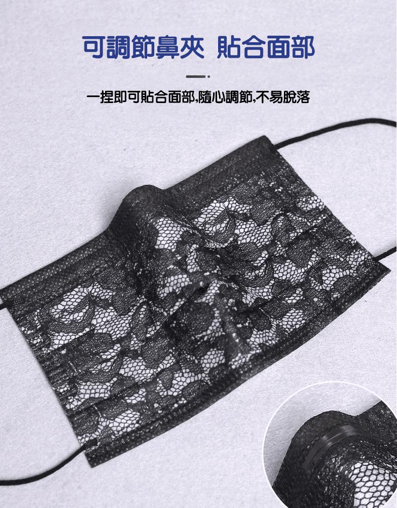 【預購】【姐姐口罩】蕾絲口罩 三層防護熔噴布 3