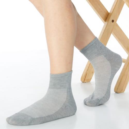【可諾帕】網狀造型1/2加大短襪中性x4雙C97006-X 2