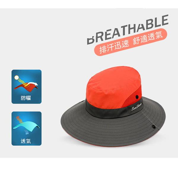 超透氣網狀防曬遮陽帽(男女適穿) 2