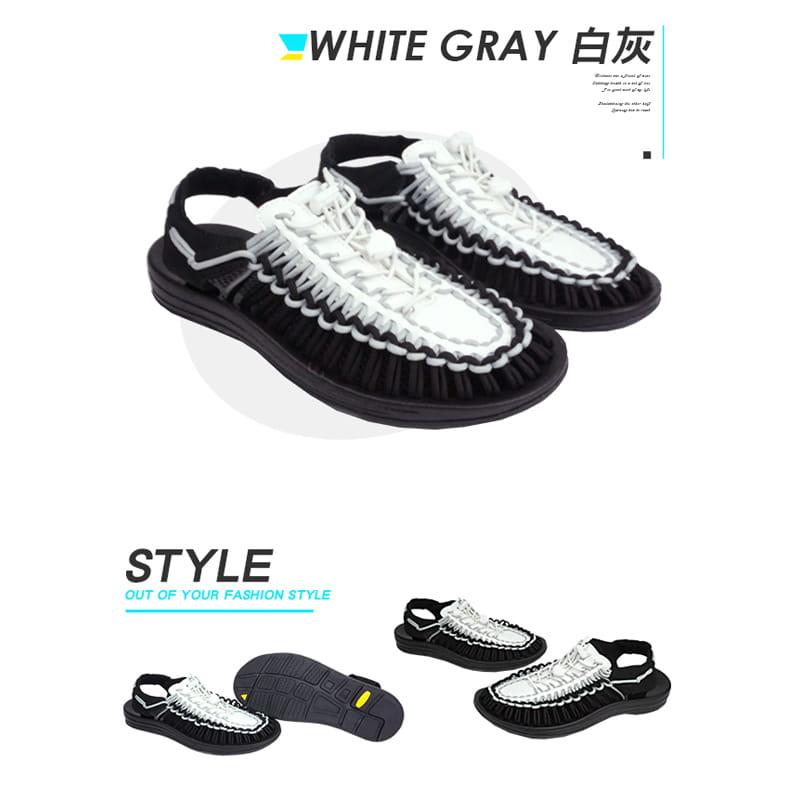 【Leon Chang】【LC雨傘】 編織運動涼鞋 15