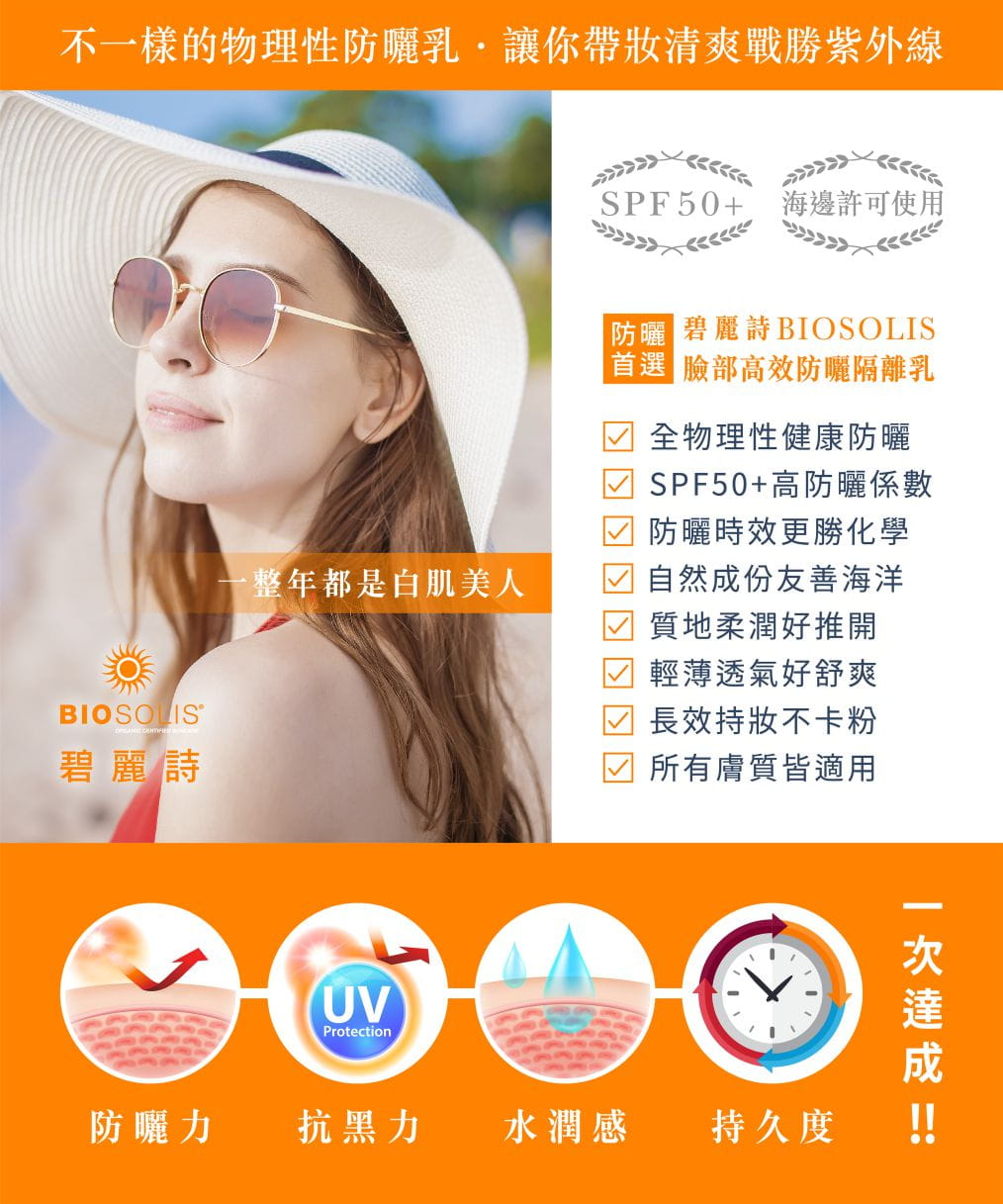 【Biosolis】臉部高效防曬隔離乳 SPF50+ 50ml 2